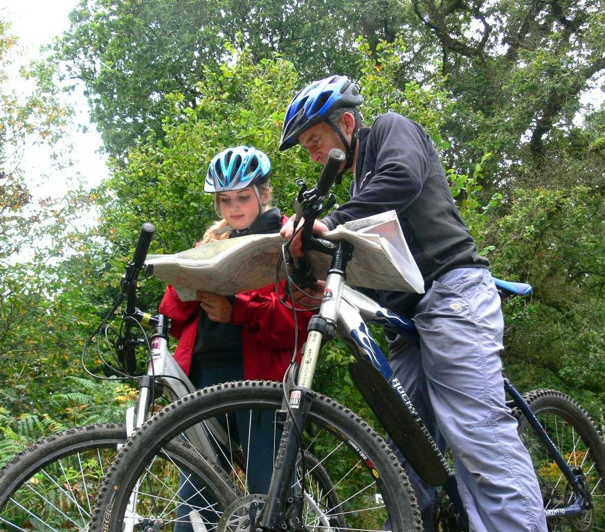 Bike trails in Devon